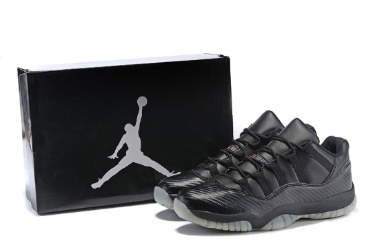 New Air Jordan 11 Retro Low Black Snake Shoes